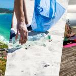 Yoga e limpeza de praia em Mariscal