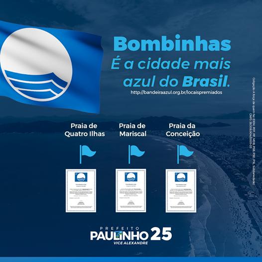 Bombinhas, a cidade mais azul do Brasil